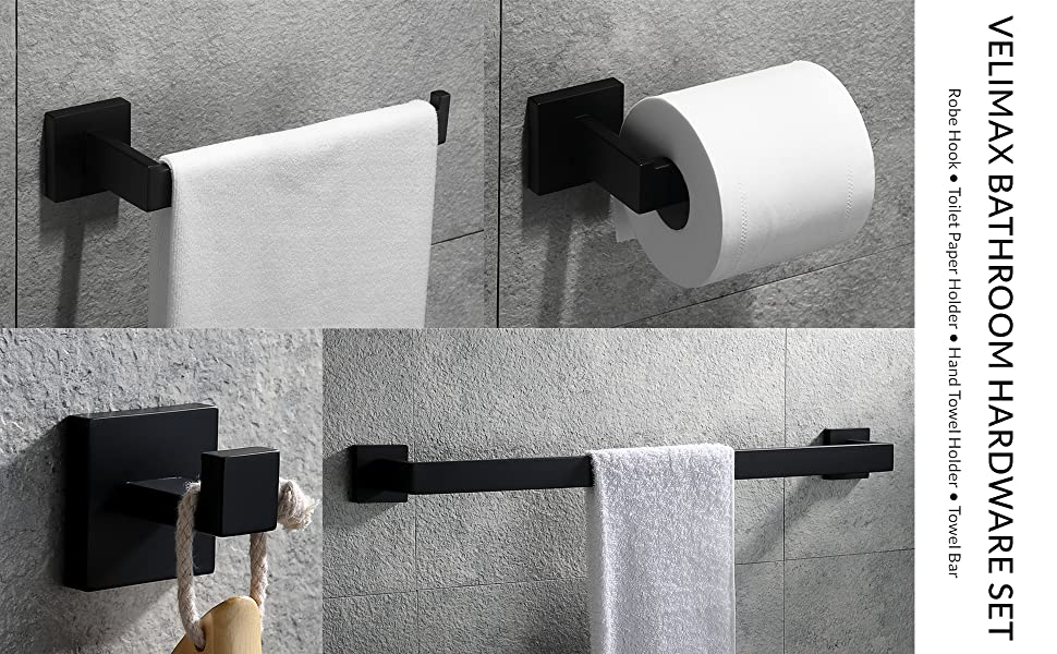 black towel racks for bathroom