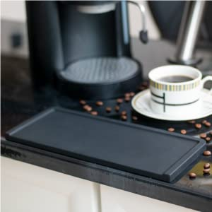 Tamping Mat at edge of counter easy to clean