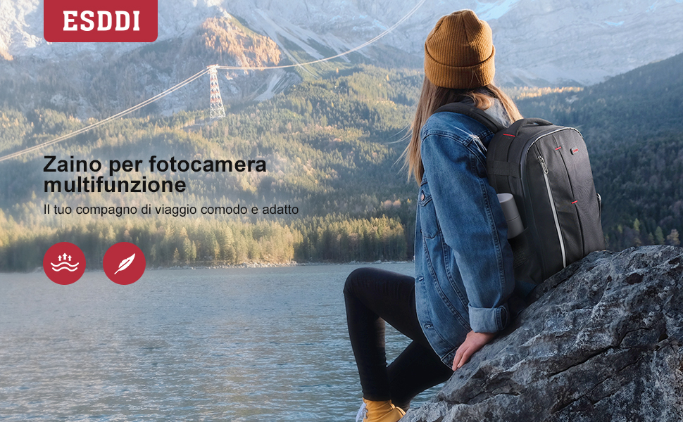 zaino per fotocamera