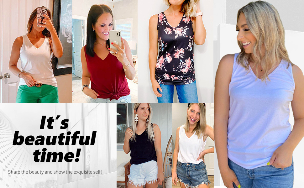 Womens Tank Tops Winter Sleeveless Shirts Turtle Neck Tunics