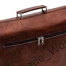DHK Vintage Handmade Leather Messenger Bag for Laptop Briefcase Best Computer Satchel Distressed Bag