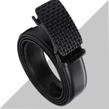 - B07ZGYGR85 -Contacts Men's Genuine Leather Auto lock Buckle Belt SPN-FOR1