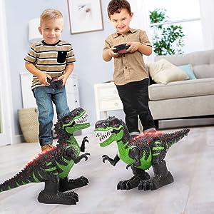 Remote Control Electric RC Robot Rex Dinosaur Dragon Toys
