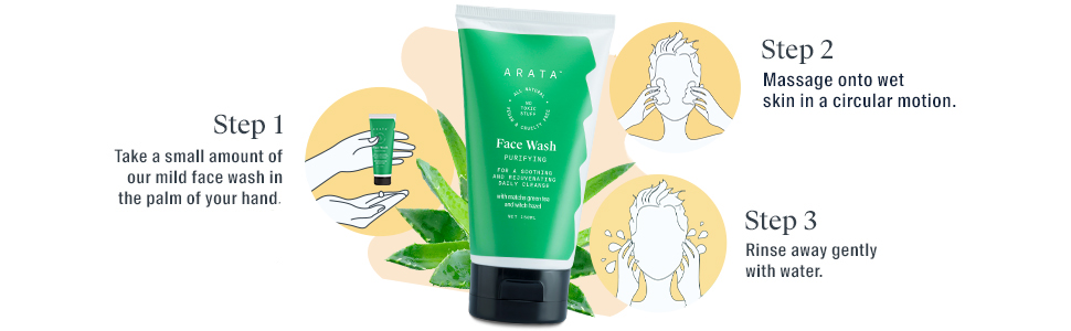 Arata Natural Purifying Face Wash (150 Ml)