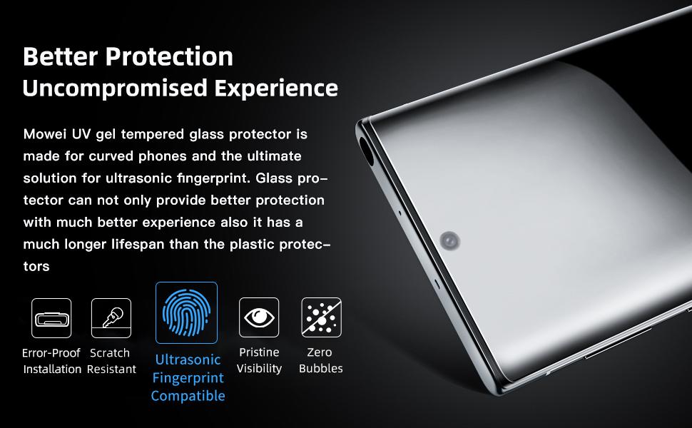 Ultrasonic Fingerprint Compatible