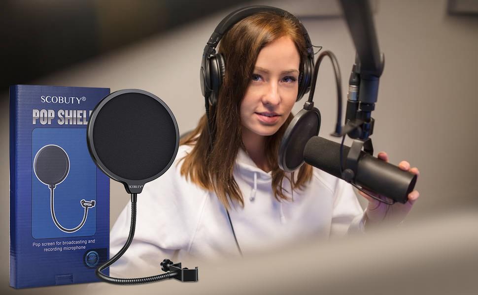 Filtro Antipop Microfono