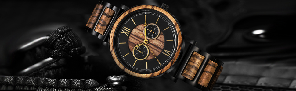 wood watch  steel wood watch for men japan watch engraved wood watch engraved steel watch