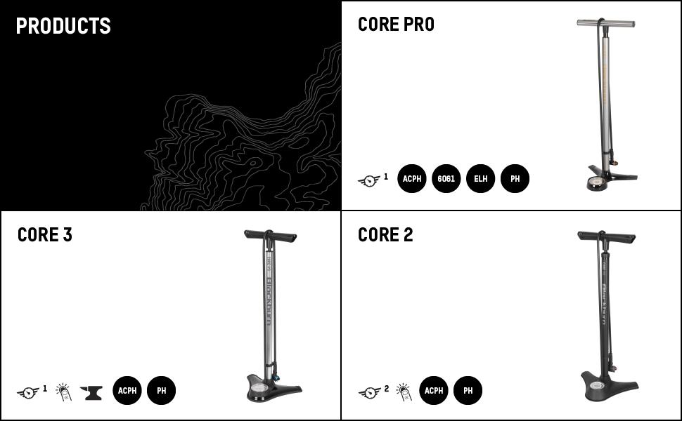 blackburn core pro floor pump bike inflator features