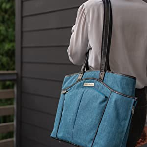 Clark & Mayfield Reed 15 Inch Laptop Handbag - Teal Blue