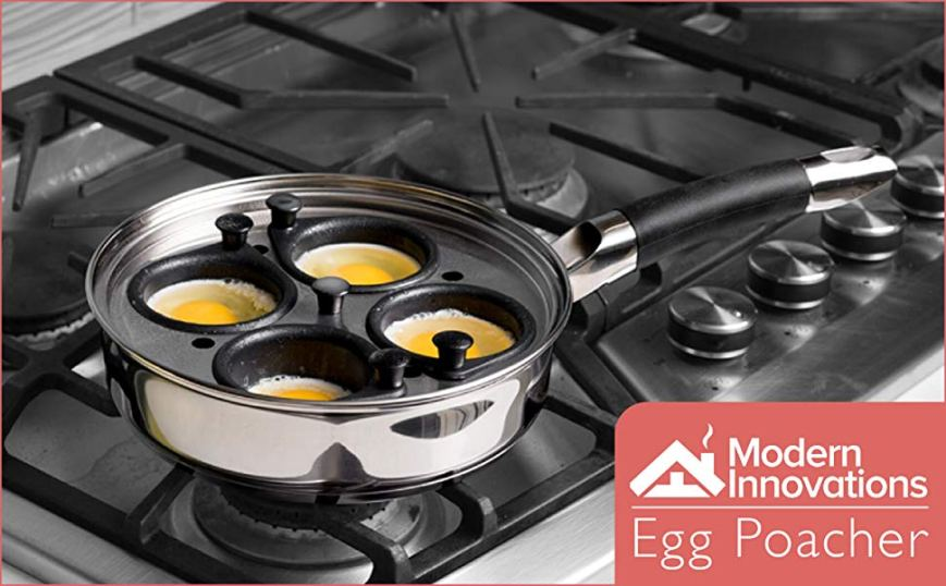 Egg Poacher Pan - Stainless Steel Poached Egg Cooker – Perfect Poached Egg Maker – Induction Cooktop