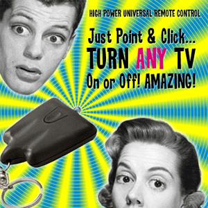 tv-b-gone universal power remote control keychain amazing