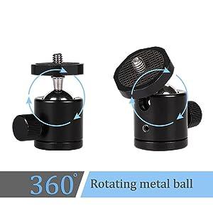 BALL HEAD DEVICE FOR CAMERA MOBILE STAND TRIPOD WITH TILT PAN ROTATE ANGULAR MOVEMENT OPTION HOLDER