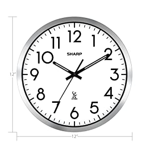 sharp atomic clock wall clock battery operated clock