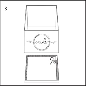 easy assembly wedding gift card box