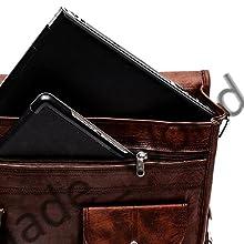 Men's Messenger Bag Vintage Genuine Leather Briefcase Shoulder Bag