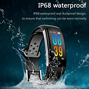 IP68 waterproof fitness tracker swimming tracker