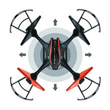KOPFLOSMODUS Mit dem Kopflosmodus spielt die Ausrichtung der Drohne im Flug keine Rolle mehr.