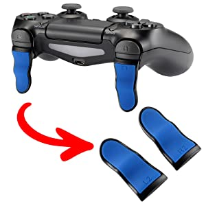 Blue Black L2 R2 Buttons Extention Trigger Buttons for Playstation 4 PS4 Pro Slim Controller 1