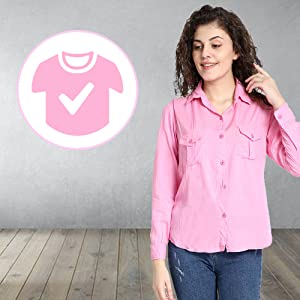 B08CDSLGCM_ C.Cozami Casual Long Sleeves Double Pocket Rayon Shirts for Women- SPN FOR-1