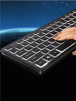Fingers typing on FINGERS Magnifico MoonLit Keyboard