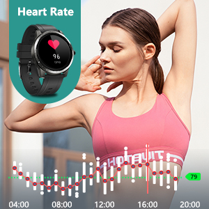 fitness activity tracker smartwatch band fitbit garmin watch for android apple letsfit smart watch