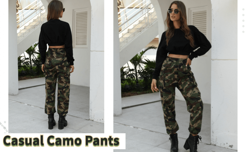 casual camo cargo pants