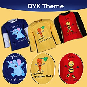 GOODWAY Boy's Full Sleeve Colour T-Shirts Did You Know Theme Pack of 3 SPN FOR1