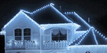 Icicle lights for christmas decor