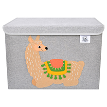 animal canvas toy storage basket chest foldable