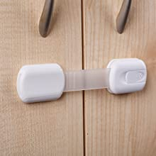 Baby Proofing Cabinet Drawer Locks Safety Latches Child Safety Kit Kitchen Cupboard Trash toilet lid