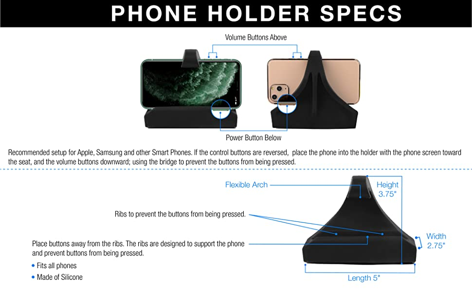 Phone Holder Specs