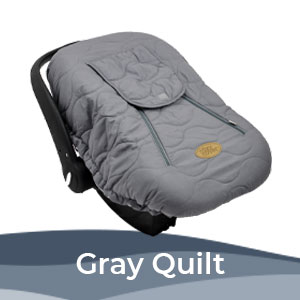 Cozy Cover Gray Quilt, Infant Carrier Cover