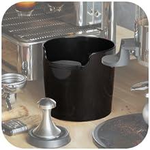 black knock box mini small pad parts grind box bin espresso tamp box tamp tool barista station gifts