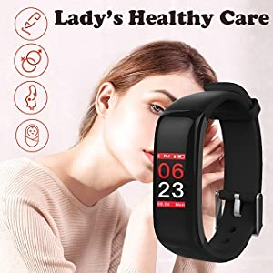 smart watch with lady's healthy care