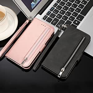 5 Card Slots Zipper Wallet Case for iphone