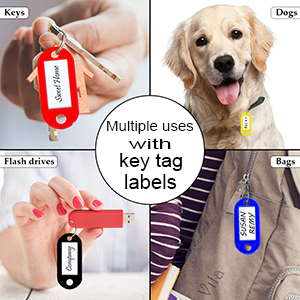 key tag with lable