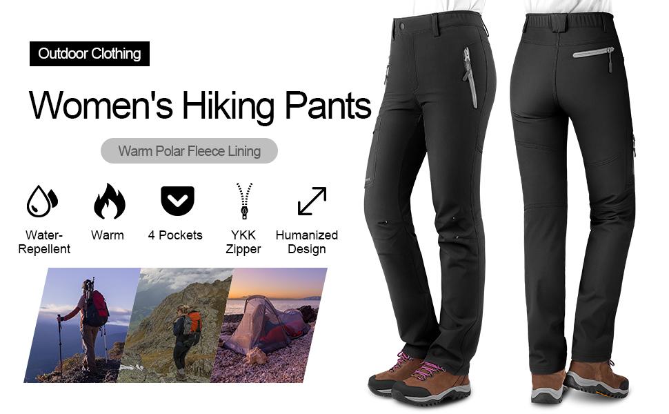 Women Fleece Hiking Pants
