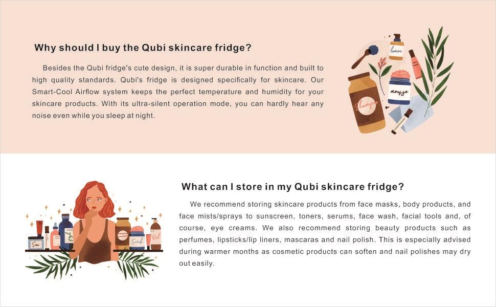 mini fridge for skincare skin care cosmetic makeup, mini fridge for bedroom office countertop