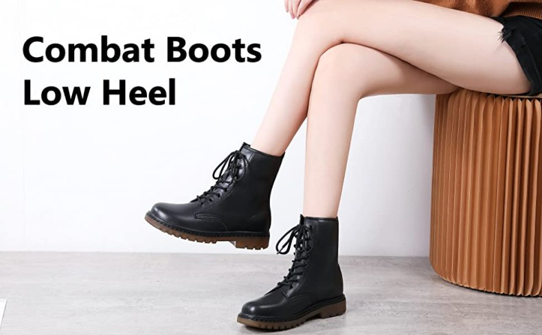 Womens Ankle Combat Boots