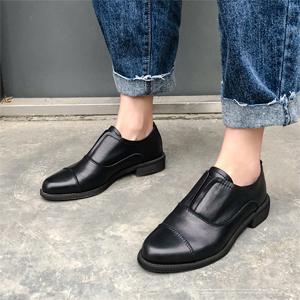 black leather oxfords women