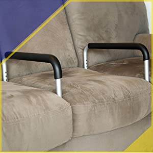 Adjustable Couch Standing Aid Dual Arm
