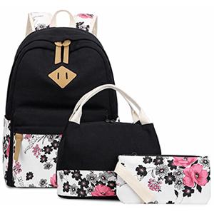 Canvas Floral Teen Girl Backpacks