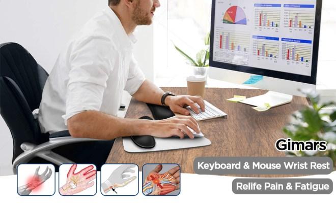 Gimars Keyboard Mouse Wrist Rest