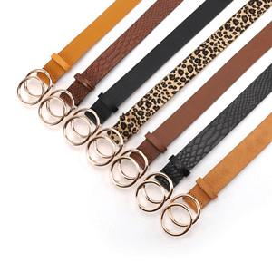 black brown leopard leather belts for women jeans