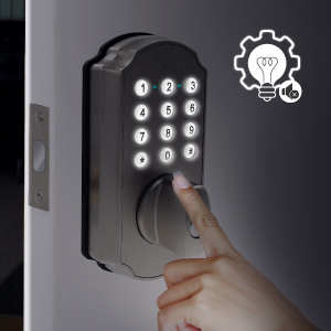 backlit keypad, so you'll be able to enter passcodes in low-light conditions