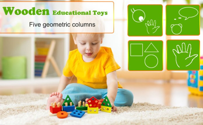 Shape Sorter Geometry Puzzle Kids Baby Boy Girl Toddler Child Daughter Son Toy Log Base Babies