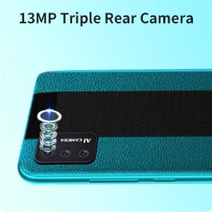 triple camera android 10 phone tracfone smartphone senior cell phone celulares desbloqueados