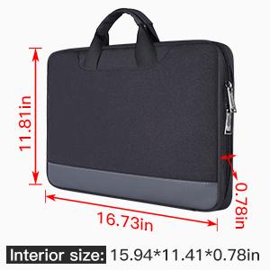 15.6 inch briefcase with organizer