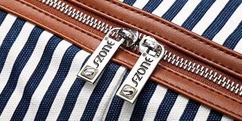 travel duffel bag double zippers closure