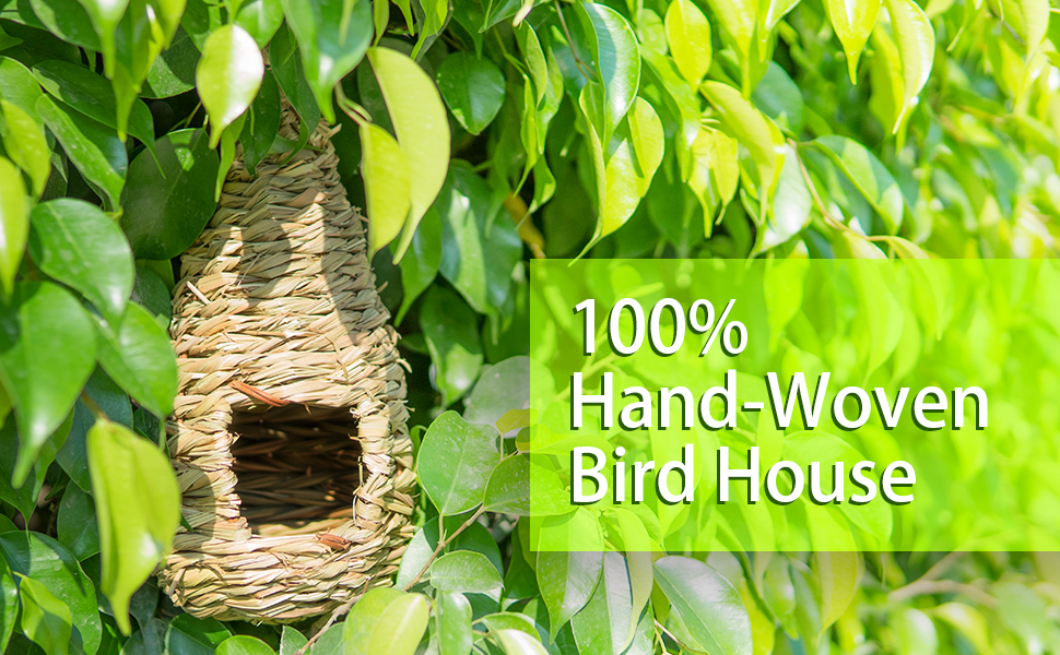 100% Hand-Woven Bird House